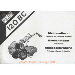 Simar 120 B C Motoculteur Catalogue Pieces Rechange