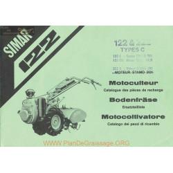 Simar 122 222 Stano 201 Mag 1026 Motoculteur Pieces Rechange