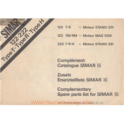 Simar 122 222 T R H Rm Tm Stamo 201 281 Mag 1026 Pieces Rechange