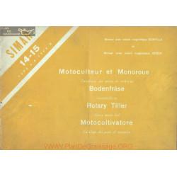 Simar 14 15 A B Motoculteur Monoroue Catalogue Pieces Rechange Scintilla Bosch