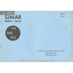 Simar 20 21c Catalogue Pieces Rechange