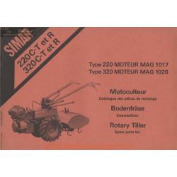 Simar 220 320 C T R Mag 1017 1026 Moteur Motoculteur Pieces Rechange
