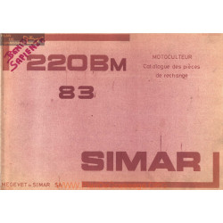 Simar 220 Bm 83 Motoculteur Catalogue Pieces Rechange
