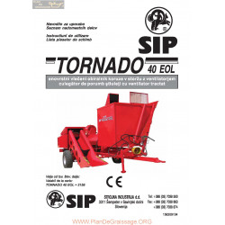 Sip Tornado 40 Instruction Manual