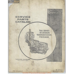 Sperry Rand T66 Series 10 Design Transmission Package Service Parts Catalog