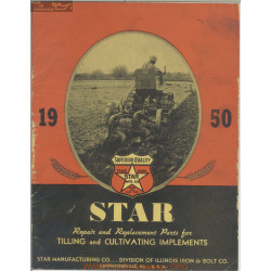 Star Tilling And Cultivating Implements Parts Manual 1950