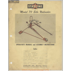 Starline Model 70 Silo Operators Manual And Assembly Instructions