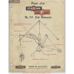 Starline Model 70 Silo Unloader Parts List