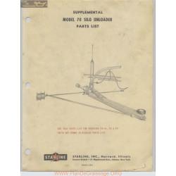 Starline Model 70 Silo Unloader Supplemental Parts List