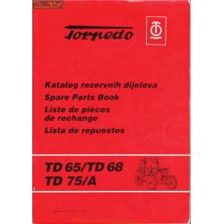 Torpedo Td 65 68 75 75a Katalog Delova Liste Pieces