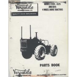 Versatile D118 G125 D145 4wd Tractors Parts Book 1967