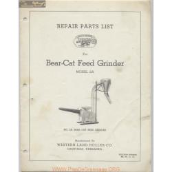 Western Bear Cat Feeder Grinder Model 2a June 1961