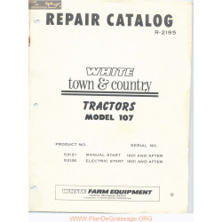 White 107 Tractor Repair Catalog R 2196