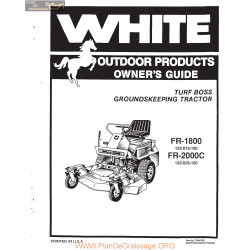 White Fr1800 And Fr2000c Tractor Owners Guide