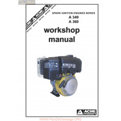 Acme A349 A360 Lombardini Workshop Manual