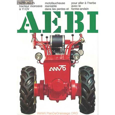 Aebi Am75 Brochure Fiche Information