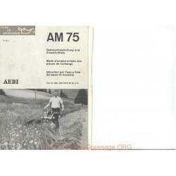Aebi Am75 Notice Mode Emploi