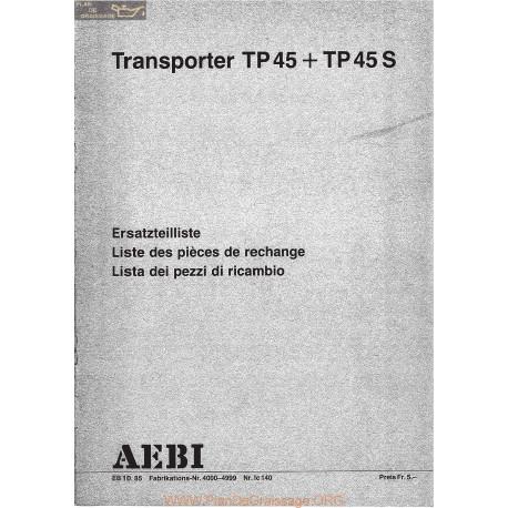 Aebi Tp45 Tp45s Liste Piece Rechange