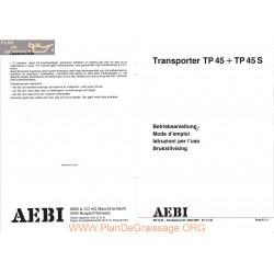 Aebi Tp45 Tp45s Transporter Mode Emploi