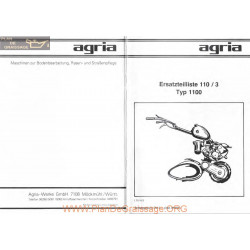 Agria 1100 Eclates Fiche Information
