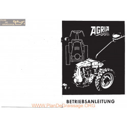 Agria 1700d Hatz E75 E79 Betriebsanleitung