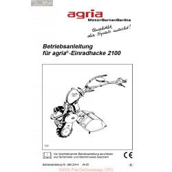 Agria 2100 Notice Betriebsanleitung