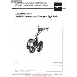 Agria 2400 Eclates Ersatzteilliste