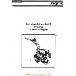 Agria 2400 Notice Betriebsanleitung 240 7