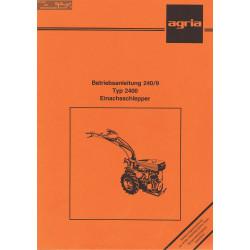 Agria 2400 Notice Betriebsanleitung 240 9
