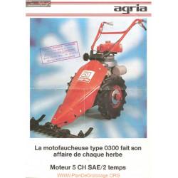 Agria 300 Moteur 5ch Plaquette Motofaucheuse