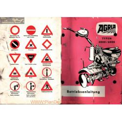 Agria 4000 6000 Betriebsanleitung