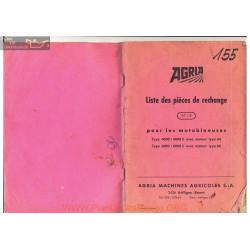 Agria 4000 6000 Eclates Liste De Pieces De Rechange