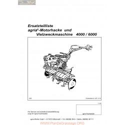 Agria 4000 6000 Ersatzteilliste Motorhacke