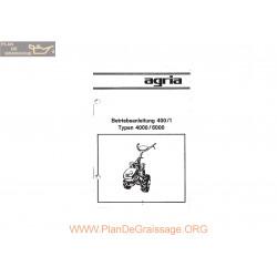 Agria 4000 6000 Notice Betriebsanleitung 400 1