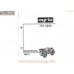 Agria 4800 4480 5 Ersatzteilliste