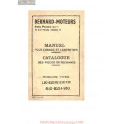 Bernard 110 110 Bis 110ter 610 610a 810 Pieces Rechange