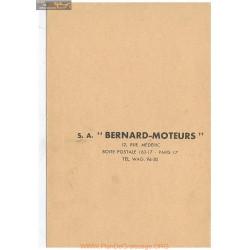 Bernard 110bis Fiche Technique
