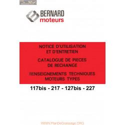 Bernard 117bis 217 127bis 227 Catalogue Pieces Rechange