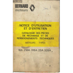 Bernard 18a 218a 318a 28a 328a Notice Utilisation Entretien