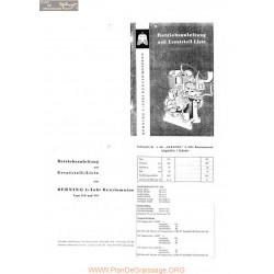 Berning D6 Et D8 Manuel Entretien