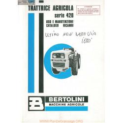 Bertolini Serie 420 421 424 428 431 432 433 Piece Rechange