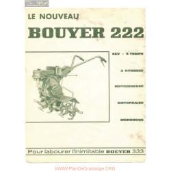 Bouyer 222 Manuel Entretien