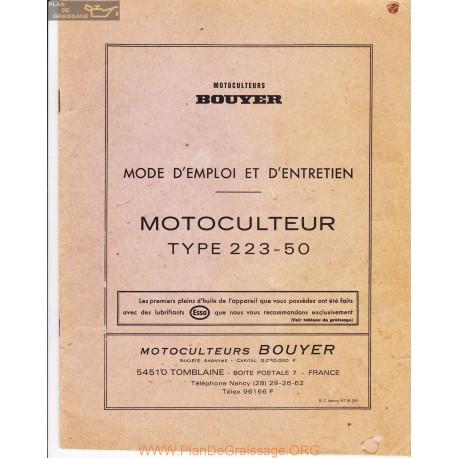 Bouyer 223 50 Bis Manuel Entretien