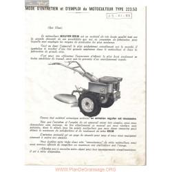 Bouyer 223 50 Manuel Entretien