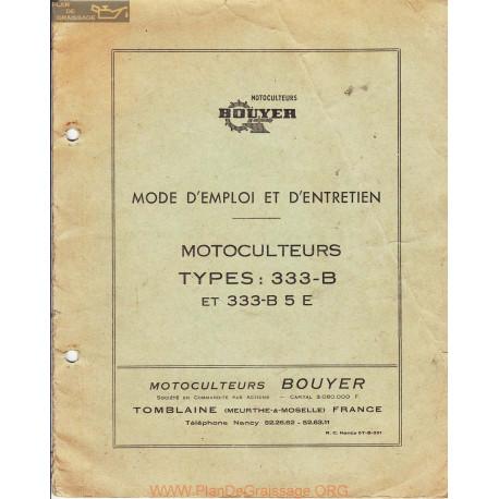Bouyer 333 B Et B5e Manuel Entretien
