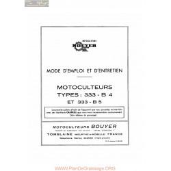 Bouyer 333 B4 Et B5 Manuel Entretien