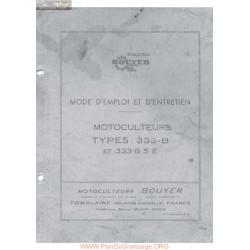 Bouyer 333 B5 Manuel Entretien