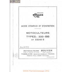 Bouyer 333 Bb Et B5 Manuel Entretien