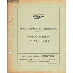 Bouyer 333 Manuel Entretien