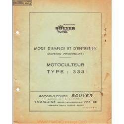 Bouyer 333 Provisoire Manuel Entretien